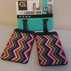 Luggage tags 2pk set new on card